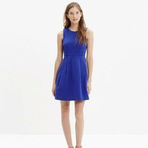 Madewell Abroad Fit and Flare Dress Royal Blue S